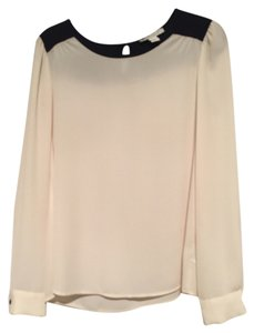 Forever 21 Sheer Top beige / black