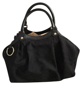 Authentic Gucci Bag Sukey Satchel in Black