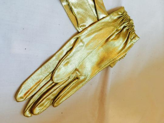Gold To Enhance Dressy Outoit Gloves Image 6