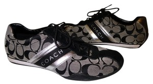 Coach Black Gray Black, Gray, Silver monogram Athletic