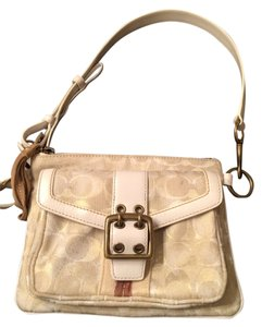 Coach Monogram Front Pocket Shoulder Bag