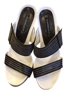 Claudia Ciuti Leather Black/white Sandals
