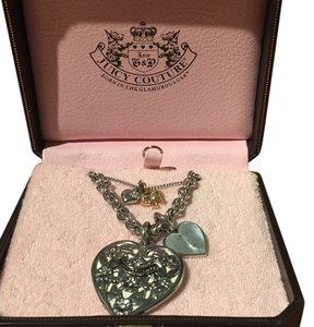 Juicy Couture Juicy Couture layered chain necklace with bow and heart detail