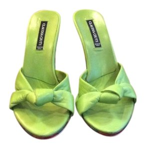 Claudia Ciuti Leather Green Sandals