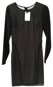 Reiss Sheer Sexy Black Night Out Dress