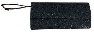Judith Leiber Crystal Evening Black Tie Green Teal Turquoise Blue Clutch