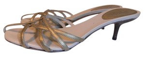 Gucci Designer Leather Metallic gold Sandals