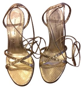 Banana Republic Leather Gold Sandals