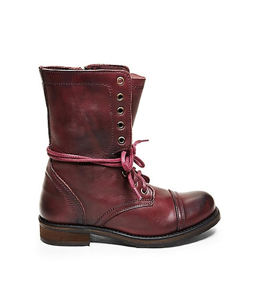 848ff3b2d77 Steve Madden Wine Leather Troopa 2.0 Boots/Booties Size US 7 50% off retail
