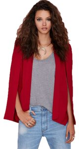 Nasty Gal Cape Ralphlauren Red/Burgundy Blazer