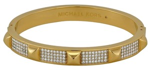 Michael Kors Michael Kors Pave Studded Gold Tone Bangle Bracelet