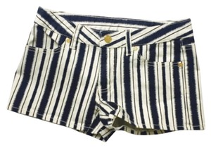 Tory Burch Mini/Short Shorts Navy and White