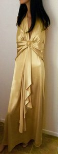 Narianna Gold Bridesmaid Gown * Formal Gown * Gold Satin * Rhinestone Square Buckle * Evening Gown Dress