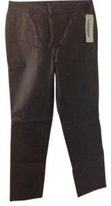 Nine West Leather Straight Pants Black