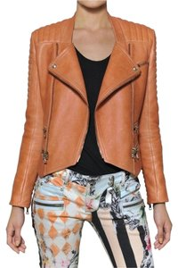 Balmain Balmian Biker Biker tan/peach/orange Jacket