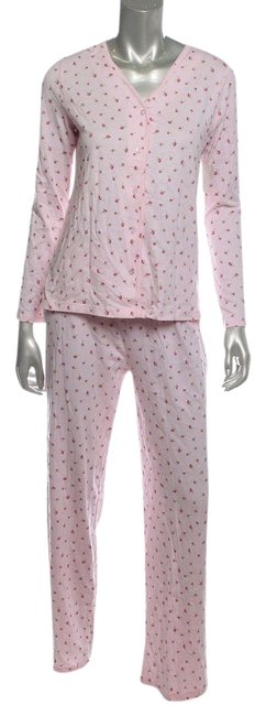 Charter Club PAJAMAS PJ'S L NWT CHARTER CLUB TOSSED ROSEBUDS PINK 2PC SET COTTON