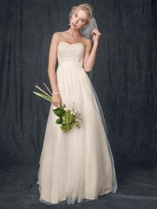 David's Bridal Brand New - Strapless A Line Beaded Lace Tulle Gown Style: Wg3586 Wedding Dress