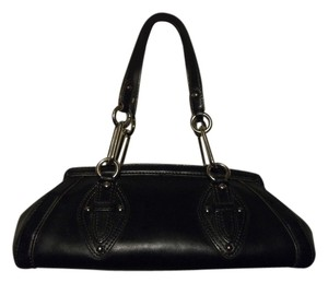 Cole Haan Leather Studded Satchel in black