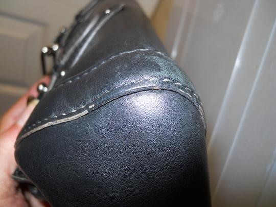 Cole Haan Leather Studded Satchel in black Image 11