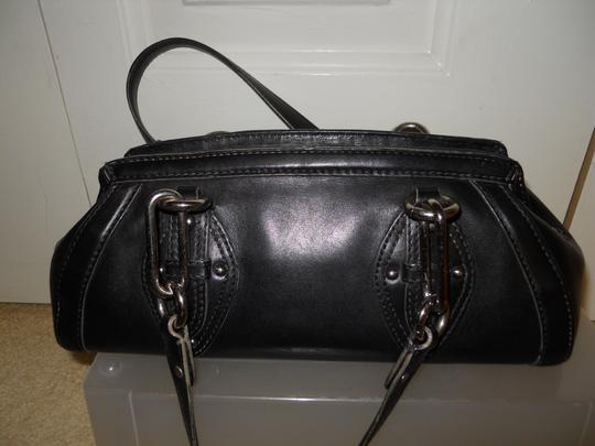 Cole Haan Leather Studded Satchel in black Image 4