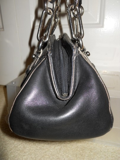 Cole Haan Leather Studded Satchel in black Image 5