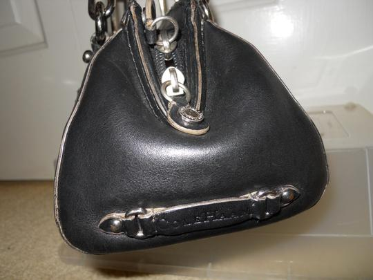 Cole Haan Leather Studded Satchel in black Image 6