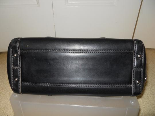 Cole Haan Leather Studded Satchel in black Image 8