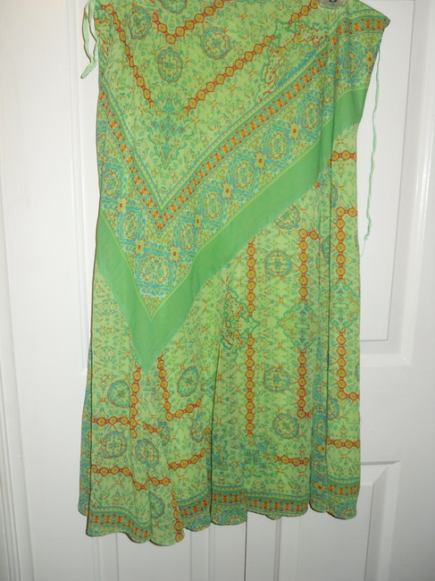 Coldwater Creek Skirt green print Image 3