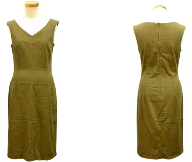 Preload https://img-static.tradesy.com/item/8050609/dolce-and-gabbana-olive-green-dolce-and-gabbana-sheath-vintage-retro-mid-length-workoffice-dress-siz-0-3-650-650.jpg
