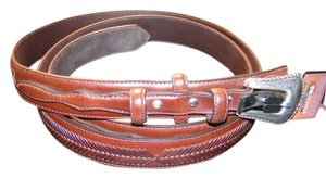 Nocona BOGO Free Genuine Leather Western Braided Belt Over size Free Shipping