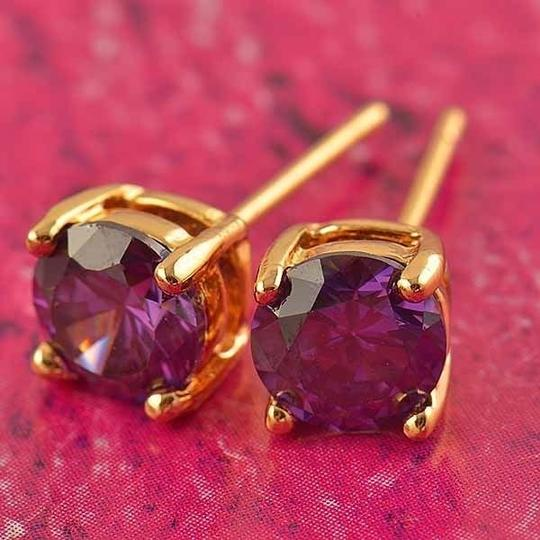 Gold/Purple Bogo Free Gemstone Stud Free Shipping Earrings