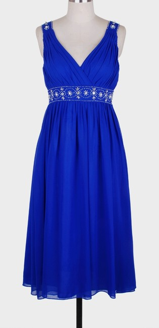 Other Chiffon Embellished Pleated Beaded Dress
