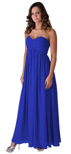 Preload https://item4.tradesy.com/images/blue-chiffon-strapless-sweetheart-long-formal-bridesmaidmob-dress-size-8-m-805173-0-0.jpg?width=440&height=440