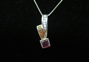 Other Genuine Amethyst , Australian Fire Opal Inlay