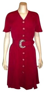 Dana Buchman short dress FUSCIA Vintage Size 4 on Tradesy