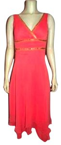 SPEECHLESS Size 5 Cute Salmon Knee Length Dress