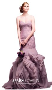 AnaissOn Weddings Sweetheart Organza Mermaid Trumpet Gown Ruched Dress