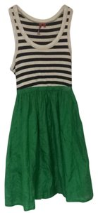 one.september short dress Kelly Green Black & White on Tradesy