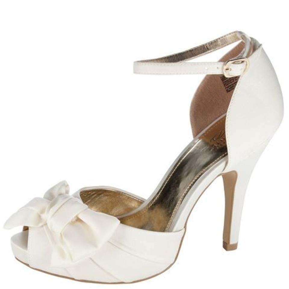 payless peep toe l bow wedding shoes 14