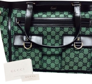Gucci Tote in Green GG Logo