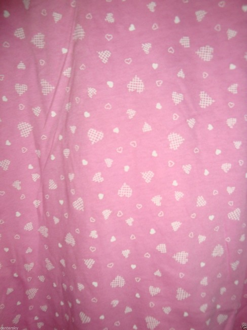 Charter Club PAJAMAS PJ'S L NWT CHARTER CLUB CROSS STITCH HEARTS PINK 2PC SET COTTON