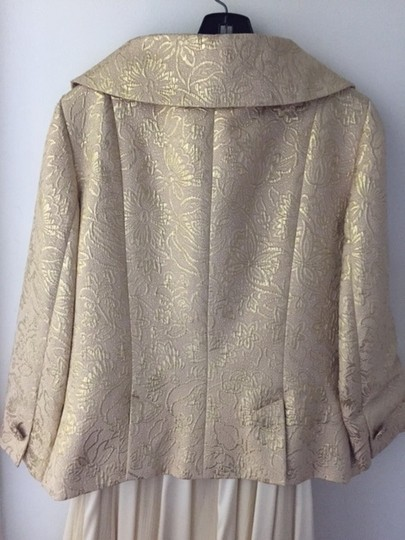 Dana Buchman Gold Formal Jacket Dress