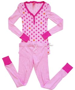 jenni by jennifer moore PAJAMAS PJ'S M NWT JENNI BY JENNIFER MOORE PINK THERMAL PAJAMA SET 2 PC