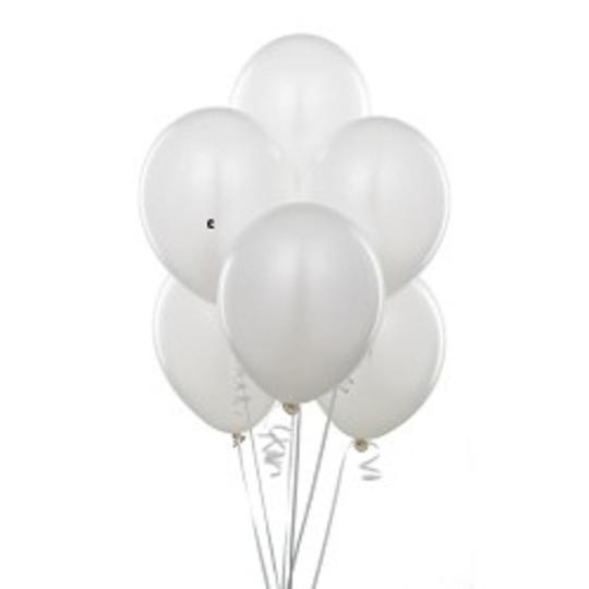 "24 Pcs - 12"" White Birthday Wedding Party Decor Latex Balloons"