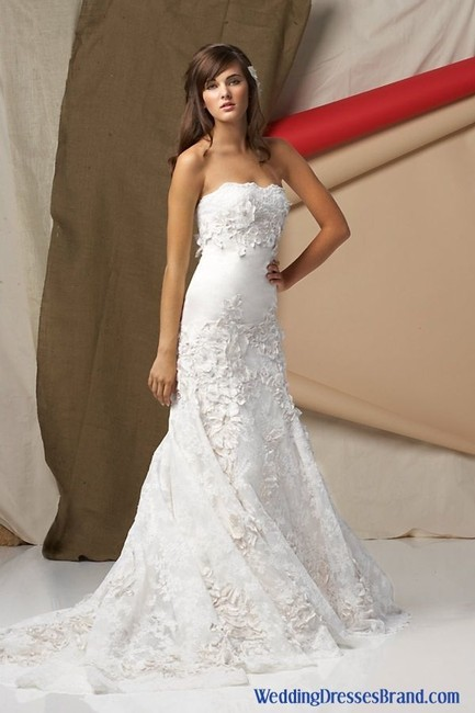 Item - Ivory Silk Torreon-4041 Modern Wedding Dress Size 8 (M)