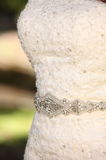 Natalia Bridal Sash Beaded Sash Wedding Dress Sash Crystal Belt Embellishment Applique