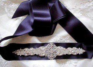 Other Bridal Beaded Jeweled Crystal Belt Sash