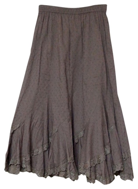 Item - Chocolate Scalloped French Latte Skirt Size 12 (L, 32, 33)