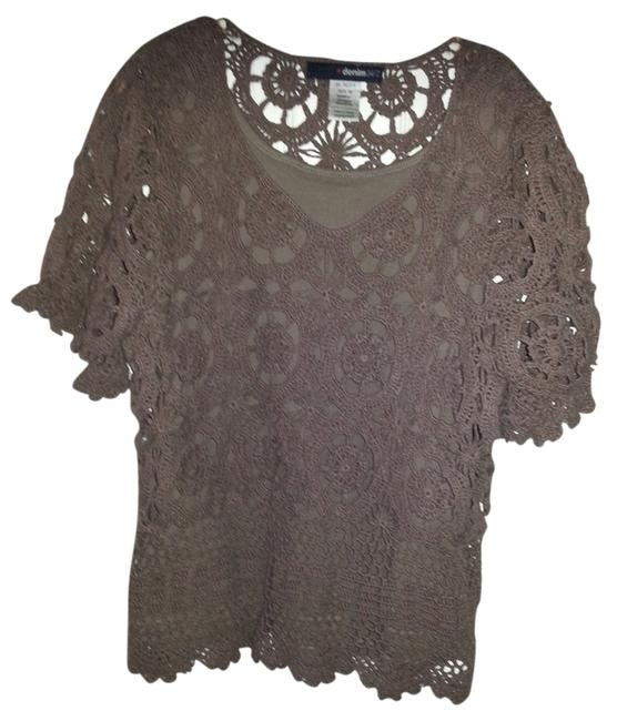Item - Latte French Collection Crochet Tank Chocolate Sweater