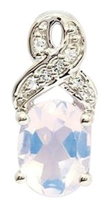 Other Genuine Lavender Quartz and White Topaz Sterling Silver Pendant, 1.73cts w/Certificate of Authenticity